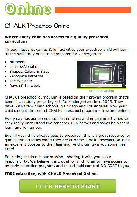 Chalk Free Preschool Online