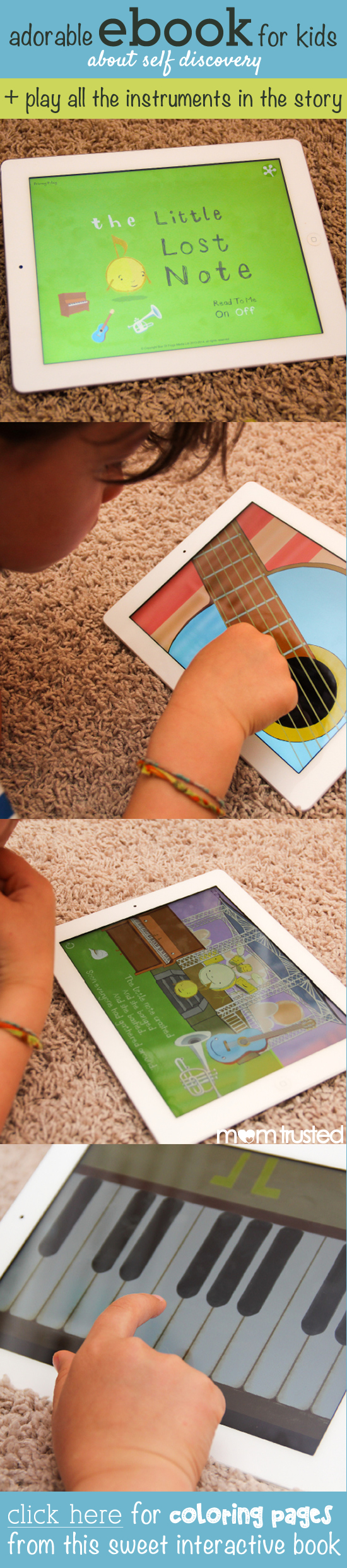 the little lost note childrens ebook musical instrument app